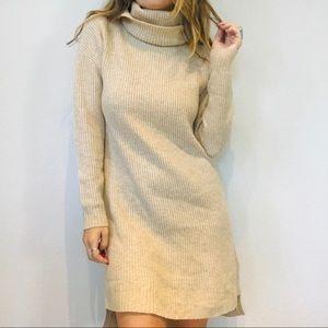 Madewell cream ribbed chunky sweater dress